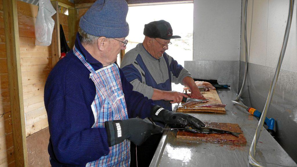 Filetieren von Dorsch und Köhler 2